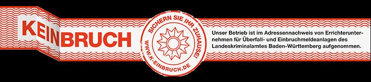 k-einbruch keinbruch WFW Alarmanlagen Heidenheim Baden-Württemberg