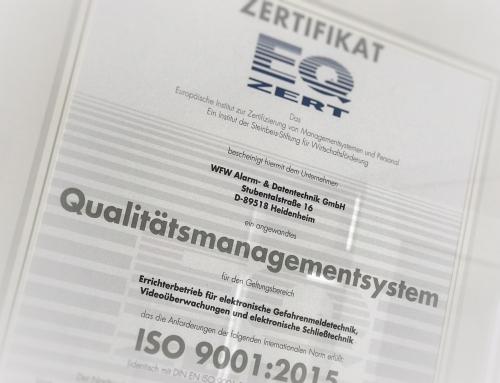 Qualitätsmanagement… aber sicher!