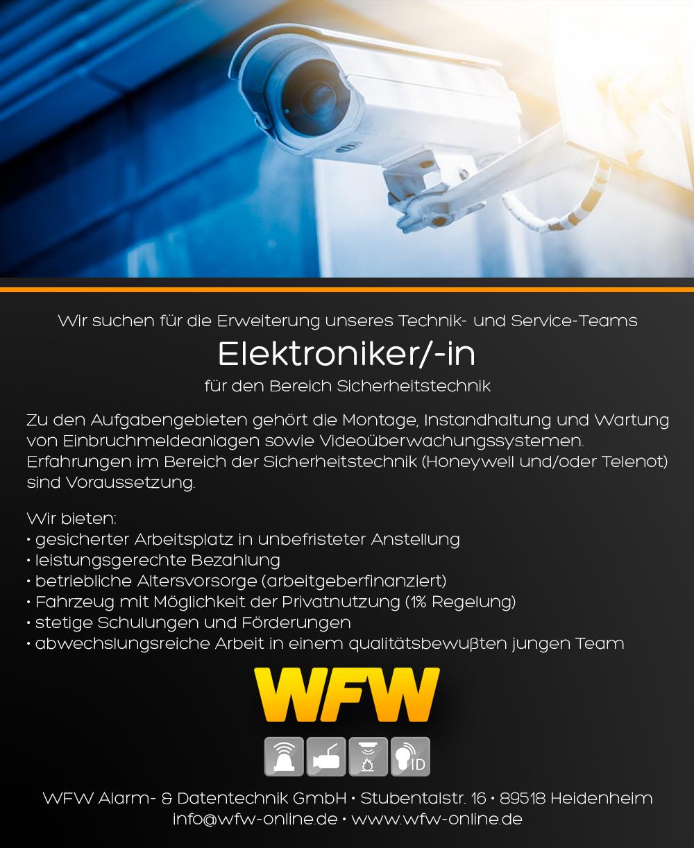 Stellenangebot Elektroniker